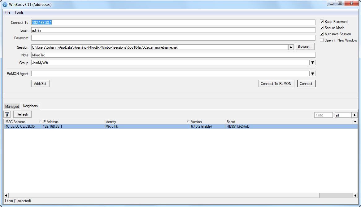 MikroTik Router Configuration - JoinMyWifi